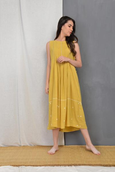 AMBER PLEATED DRESS