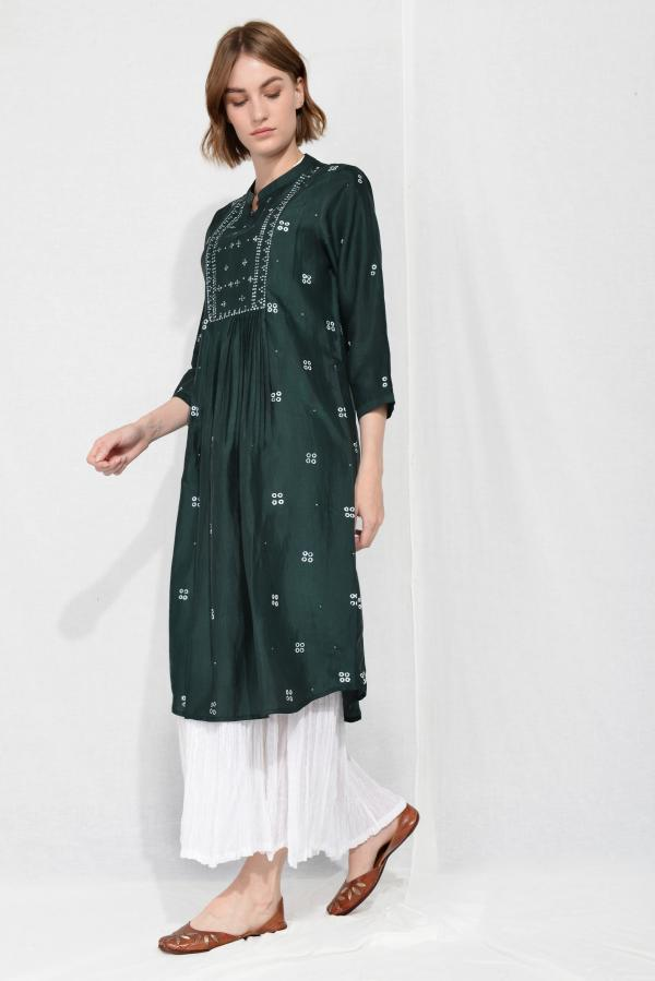SARA SILK OVERLAY TUNIC DRESS