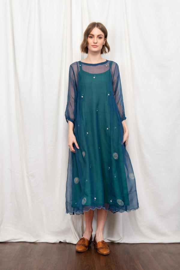 AMY INDIE SILK OVERLAY DRESS
