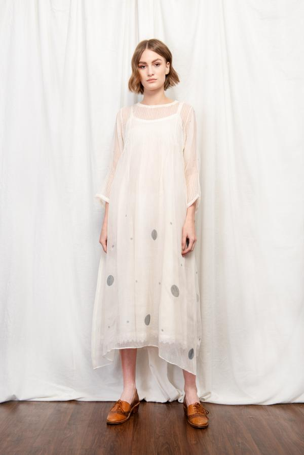 SOPHIA SILK OVERLAY DRESS