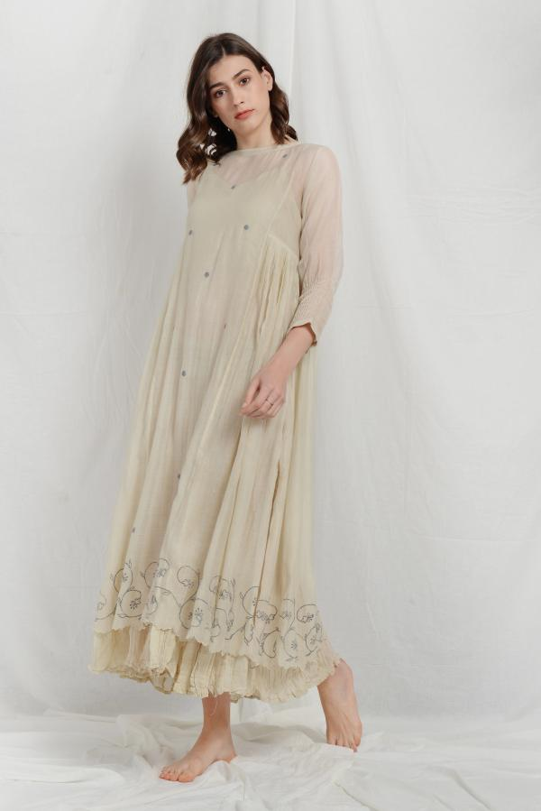NORA SILK OVERLAY SUMMER DRESS