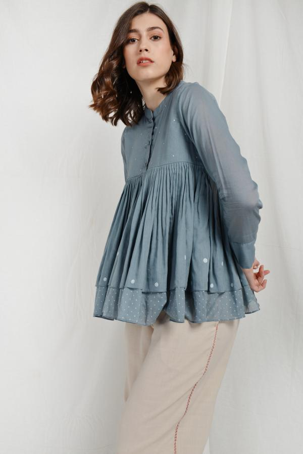 RAINEE DOUBLE LAYERED OVERLAY TUNIC