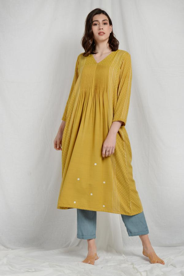 AMIEE PLEATED OVERLAY TUNIC
