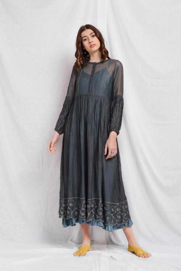 SUSIEN SILK OVERLAY DRESS