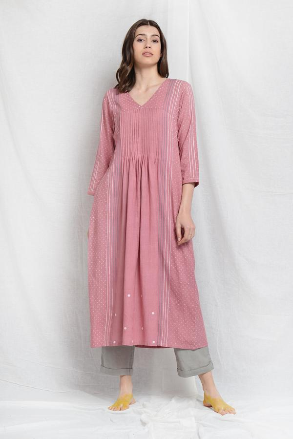 AMIEE WILLOW PLEATED TUNIC